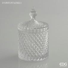 Dóza sklenená 18 x 11 cm