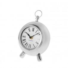 Stolové hodiny CHUCK silver okrúhle, 20cm