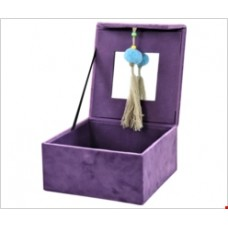 "Šperkovnica ""Pompadour"" fialová 16,5x16,5 cm"