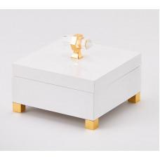 Šperkovnica, biela, 15x15x9cm