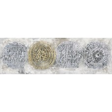 Obraz KRUHY 50x150 cm