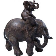 Sloník jazdiaci na slonovi, polyrezín